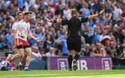 2 September 2018; Mattie Donnelly of Tyrone reacts as referee Conor Lane awards a penalty to Dublin during the GAA Football All-Ireland Senior Championship Final match between Dublin and Tyrone at Croke Park in Dublin. Photo by Piaras Ó Mídheach/Sportsfile
