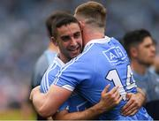 2 September 2018; Dublin players James McCarthy, left, and Ciarán Kilkenny celebrate after the GAA Football All-Ireland Senior Championship Final match between Dublin and Tyrone at Croke Park in Dublin. Photo by Piaras Ó Mídheach/Sportsfile