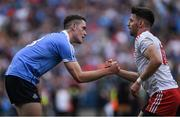 2 September 2018; Brian Fenton of Dublin consoles Mattie Donnelly of Tyrone after the GAA Football All-Ireland Senior Championship Final match between Dublin and Tyrone at Croke Park in Dublin. Photo by Piaras Ó Mídheach/Sportsfile