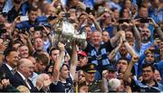 2 September 2018; Dublin captain Stephen Cluxton lifts the Sam Maguire Cup after the GAA Football All-Ireland Senior Championship Final match between Dublin and Tyrone at Croke Park in Dublin. Photo by Piaras Ó Mídheach/Sportsfile