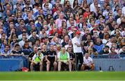 2 September 2018; Tyrone manager Mickey Harte during the GAA Football All-Ireland Senior Championship Final match between Dublin and Tyrone at Croke Park in Dublin. Photo by Piaras Ó Mídheach/Sportsfile