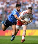 2 September 2018; Connor McAliskey of Tyrone in action against Cian O'Sullivan of Dublin during the GAA Football All-Ireland Senior Championship Final match between Dublin and Tyrone at Croke Park in Dublin. Photo by Piaras Ó Mídheach/Sportsfile