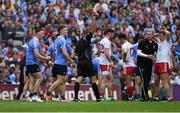 2 September 2018; Referee Conor Lane shows the red card to John Small of Dublin during the GAA Football All-Ireland Senior Championship Final match between Dublin and Tyrone at Croke Park in Dublin. Photo by Piaras Ó Mídheach/Sportsfile