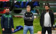 4 September 2018; From left, Backs coach Nigel Carolan, Ireland forwards coach Simon Easterby and Ireland defence Coach Andy Farrell during Connacht Rugby squad training at the Sportsground in Galway. Photo by Harry Murphy/Sportsfile