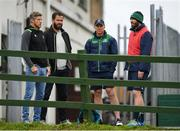 4 September 2018; From left, Ireland forwards coach Simon Easterby, Ireland defence coach Andy Farrell, Connacht head coach Andy Friend and Connacht defence coach Peter Wilkins during Connacht Rugby squad training at the Sportsground in Galway. Photo by Harry Murphy/Sportsfile