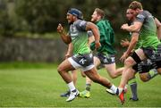 4 September 2018; Bundee Aki during Connacht Rugby squad training at the Sportsground in Galway. Photo by Harry Murphy/Sportsfile