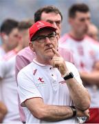2 September 2018;A disappointed Tyrone Manager Mickey Harte after the GAA Football All-Ireland Senior Championship Final match between Dublin and Tyrone at Croke Park in Dublin. Photo by Oliver McVeigh/Sportsfile