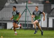 4 September 2018; Tiernan O'Halloran, left, and Eoin Griffin during Connacht Rugby squad training at the Sportsground in Galway. Photo by Harry Murphy/Sportsfile
