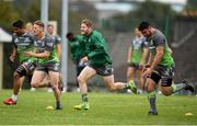 4 September 2018; Kieran Joyce, centre, and Eoin Griffin left during Connacht Rugby squad training at the Sportsground in Galway. Photo by Harry Murphy/Sportsfile