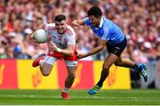2 September 2018; Connor McAliskey of Tyrone is tackled by Cian O'Sullivan of Dublin during the GAA Football All-Ireland Senior Championship Final match between Dublin and Tyrone at Croke Park in Dublin. Photo by Ramsey Cardy/Sportsfile