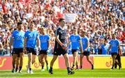 2 September 2018; Stephen Cluxton parades alongside his Dublin teammates ahead of the GAA Football All-Ireland Senior Championship Final match between Dublin and Tyrone at Croke Park in Dublin. Photo by Ramsey Cardy/Sportsfile