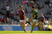 2 September 2018; Patrick D'arcy of Kerry in action against Tony Gill of Galway during the Electric Ireland GAA Football All-Ireland Minor Championship Final match between Kerry and Galway at Croke Park in Dublin. Photo by Piaras Ó Mídheach/Sportsfile