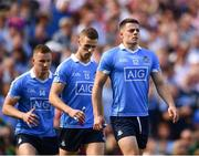 2 September 2018; Dublin players, from right, Brian Howard, Paul Mannion and Ciarán Kilkenny during the GAA Football All-Ireland Senior Championship Final match between Dublin and Tyrone at Croke Park in Dublin. Photo by Seb Daly/Sportsfile
