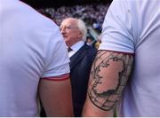 2 September 2018; A detailed view of a tatoo on the arm of Tiernan McCann of Tyrone during the GAA Football All-Ireland Senior Championship Final match between Dublin and Tyrone at Croke Park in Dublin. Photo by Stephen McCarthy/Sportsfile