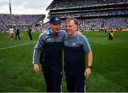 2 September 2018; Dublin manager Jim Gavin and Mick Seavers following the GAA Football All-Ireland Senior Championship Final match between Dublin and Tyrone at Croke Park in Dublin. Photo by Stephen McCarthy/Sportsfile