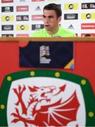 5 September 2018; Seamus Coleman during a Republic of Ireland press conference at Cardiff City Stadium in Cardiff, Wales. Photo by Stephen McCarthy/Sportsfile