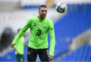 5 September 2018; Shane Duffy during a Republic of Ireland training session at Cardiff City Stadium in Cardiff, Wales. Photo by Stephen McCarthy/Sportsfile