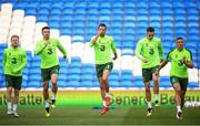 5 September 2018; Republic of Ireland players, from left, Daryl Horgan, Enda Stevens, Conor Hourihane, Shaun Williams and Jonathan Walters during a Republic of Ireland training session at Cardiff City Stadium in Cardiff, Wales. Photo by Stephen McCarthy/Sportsfile