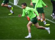 5 September 2018; Seamus Coleman during a Republic of Ireland training session at Cardiff City Stadium in Cardiff, Wales. Photo by Stephen McCarthy/Sportsfile