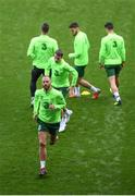 5 September 2018; David Meyler and Seamus Coleman during a Republic of Ireland training session at Cardiff City Stadium in Cardiff, Wales. Photo by Stephen McCarthy/Sportsfile