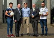 6 September 2018; Michael McKernan, UUJ and Tyrone footballer, Dr John Farrell President of Ulster University GAA Academy, Stephen Sheridan, graduated UUJ and Armagh footballer, Ronan Sheehan, GPA National Executive Committee representative and Terence O'Brien, UUJ and Derry footballer at the GPA/UUJ Enhanced Scholarships Announcement at the University of Ulster in Belfast, Co Antrim.  Photo by Oliver McVeigh/Sportsfile