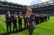2 September 2018; Joe Brolly of the Derry 1993 All-Ireland winning team who were honoured prior to the GAA Football All-Ireland Senior Championship Final match between Dublin and Tyrone at Croke Park in Dublin. Photo by Brendan Moran/Sportsfile
