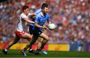 2 September 2018; Jack McCaffrey of Dublin in action against Conor Meyler of Tyrone during the GAA Football All-Ireland Senior Championship Final match between Dublin and Tyrone at Croke Park in Dublin. Photo by Brendan Moran/Sportsfile