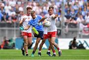 2 September 2018; Jonny Cooper of Dublin takes a quick free kick away from Tyrone players, Conor Meyler, Kieran McGeary and Connor McAliskey in the lead up to Dublin's first goal during the GAA Football All-Ireland Senior Championship Final match between Dublin and Tyrone at Croke Park in Dublin. Photo by Brendan Moran/Sportsfile