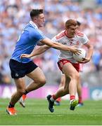 2 September 2018; Peter Harte of Tyrone is tackled by John Small of Dublin during the GAA Football All-Ireland Senior Championship Final match between Dublin and Tyrone at Croke Park in Dublin. Photo by Brendan Moran/Sportsfile