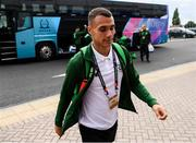 6 September 2018; Graham Burke of Republic of Ireland arrives to the stadium prior to the UEFA Nations League match between Wales and Republic of Ireland at the Cardiff City Stadium in Cardiff, Wales. Photo by Stephen McCarthy/Sportsfile