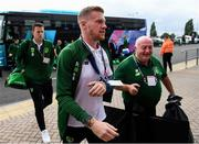 6 September 2018; James McClean of Republic of Ireland arrives to the stadium prior to the UEFA Nations League match between Wales and Republic of Ireland at the Cardiff City Stadium in Cardiff, Wales. Photo by Stephen McCarthy/Sportsfile