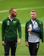 6 September 2018; David Meyler, left, and James McClean of the Republic of Ireland prior to UEFA Nations League match between Wales and Republic of Ireland at the Cardiff City Stadium in Cardiff, Wales. Photo by Stephen McCarthy/Sportsfile