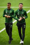 6 September 2018; Alan Browne, right and Graham Burke, left, of Republic of Ireland prior to the UEFA Nations League match between Wales and Republic of Ireland at the Cardiff City Stadium in Cardiff, Wales. Photo by Stephen McCarthy/Sportsfile