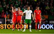 6 September 2018; Seamus Coleman of Republic of Ireland after Gareth Bale of Wales, right, scored his side's second goal during the UEFA Nations League match between Wales and Republic of Ireland at the Cardiff City Stadium in Cardiff, Wales. Photo by Stephen McCarthy/Sportsfile