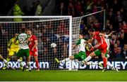 6 September 2018; Gareth Bale of Wales scores his side's second goal during the UEFA Nations League match between Wales and Republic of Ireland at the Cardiff City Stadium in Cardiff, Wales. Photo by Stephen McCarthy/Sportsfile