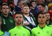 6 September 2018; James McClean of the Republic of Ireland watches the action during the UEFA Nations League match between Wales and Republic of Ireland at the Cardiff City Stadium in Cardiff, Wales. Photo by Stephen McCarthy/Sportsfile
