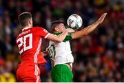 6 September 2018; Jonathan Walters of Republic of Ireland in action against Chris Mepham of Wales during the UEFA Nations League match between Wales and Republic of Ireland at the Cardiff City Stadium in Cardiff, Wales. Photo by Stephen McCarthy/Sportsfile