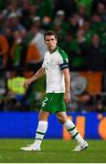 6 September 2018; Seamus Coleman of Republic of Ireland after Wales score their third goal during the UEFA Nations League match between Wales and Republic of Ireland at the Cardiff City Stadium in Cardiff, Wales. Photo by Stephen McCarthy/Sportsfile
