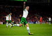 6 September 2018; Shaun Williams of Republic of Ireland celebrates after scoring his side's first goal during the UEFA Nations League match between Wales and Republic of Ireland at the Cardiff City Stadium in Cardiff, Wales. Photo by Stephen McCarthy/Sportsfile