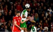 6 September 2018; Cyrus Christie of Republic of Ireland in action against Den Davies of Wales during the UEFA Nations League match between Wales and Republic of Ireland at the Cardiff City Stadium in Cardiff, Wales. Photo by Stephen McCarthy/Sportsfile