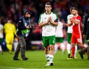 6 September 2018; Seamus Coleman of Republic of Ireland applauds supporters following the UEFA Nations League match between Wales and Republic of Ireland at the Cardiff City Stadium in Cardiff, Wales. Photo by Stephen McCarthy/Sportsfile