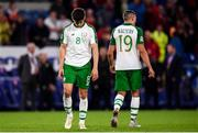 6 September 2018; Callum O'Dowda, left, and Jonathan Walters of Republic of Ireland dejected following the UEFA Nations League match between Wales and Republic of Ireland at the Cardiff City Stadium in Cardiff, Wales. Photo by Stephen McCarthy/Sportsfile