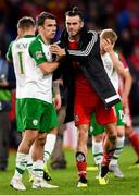 6 September 2018; Seamus Coleman of Republic of Ireland and Gareth Bale of Wales following the UEFA Nations League match between Wales and Republic of Ireland at the Cardiff City Stadium in Cardiff, Wales. Photo by Stephen McCarthy/Sportsfile