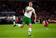 6 September 2018; Shaun Williams of Republic of Ireland celebrates after scoring his side's goal during the UEFA Nations League match between Wales and Republic of Ireland at the Cardiff City Stadium in Cardiff, Wales. Photo by Stephen McCarthy/Sportsfile