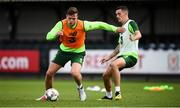 7 September 2018; Kevin Long and Shaun Williams during a Republic of Ireland Training Session at Dragon Park in Newport, Wales. Photo by Stephen McCarthy/Sportsfile