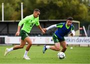 7 September 2018; Graham Burke, left, and Enda Stevens during a Republic of Ireland Training Session at Dragon Park in Newport, Wales. Photo by Stephen McCarthy/Sportsfile