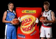 5 September 2018; Mouth-watering opening round Hula Hoops National Cup clash in store as Tralee drawn against Templeogue and Glanmire face Killester. There will be a mouth-watering opening to the 2018/19 Hula Hoops Men's National Cup this season as reigning champions Templeogue will host Garvey's Tralee Warriors in a hugely-anticipated clash. The draw was made at the National Basketball Arena in Tallaght this afternoon as part of the official launch of the 2018/19 Basketball Ireland season, which sees a huge 49 clubs competing in the senior National League and Cups this year.   Today's Cup draws dished up a number of interesting clashes across the board, with last year's Pat Duffy Cup runners up UCD Marian facing Moycullen, while Belfast Star will host Neptune. In the Women's National Cup there are some big clashes in store with the draw pitting Ambassador UCC Glanmire against Pyrobel Killester in the opening round, while Marble City Hawks and Fr Mathews – who met each other five times last season between the Cup and the regular season, and have faced each other every year for the past four years in National Cup – will face each other yet again. Pictured are Garrett Williams of Abbey Seals Dublin Lions, left, and Andrew Fitzgerald of St Paul's Killarney. Photo by Sam Barnes/Sportsfile