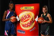 5 September 2018; Mouth-watering opening round Hula Hoops National Cup clash in store as Tralee drawn against Templeogue and Glanmire face Killester. There will be a mouth-watering opening to the 2018/19 Hula Hoops Men's National Cup this season as reigning champions Templeogue will host Garvey's Tralee Warriors in a hugely-anticipated clash. The draw was made at the National Basketball Arena in Tallaght this afternoon as part of the official launch of the 2018/19 Basketball Ireland season, which sees a huge 49 clubs competing in the senior National League and Cups this year.   Today's Cup draws dished up a number of interesting clashes across the board, with last year's Pat Duffy Cup runners up UCD Marian facing Moycullen, while Belfast Star will host Neptune. In the Women's National Cup there are some big clashes in store with the draw pitting Ambassador UCC Glanmire against Pyrobel Killester in the opening round, while Marble City Hawks and Fr Mathews – who met each other five times last season between the Cup and the regular season, and have faced each other every year for the past four years in National Cup – will face each other yet again. Pictured are Adiya Henderson of Fabplus North West and Jamie Sherburne of Portlaoise Panthers. Photo by Sam Barnes/Sportsfile