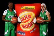 5 September 2018; Mouth-watering opening round Hula Hoops National Cup clash in store as Tralee drawn against Templeogue and Glanmire face Killester. There will be a mouth-watering opening to the 2018/19 Hula Hoops Men's National Cup this season as reigning champions Templeogue will host Garvey's Tralee Warriors in a hugely-anticipated clash. The draw was made at the National Basketball Arena in Tallaght this afternoon as part of the official launch of the 2018/19 Basketball Ireland season, which sees a huge 49 clubs competing in the senior National League and Cups this year.   Today's Cup draws dished up a number of interesting clashes across the board, with last year's Pat Duffy Cup runners up UCD Marian facing Moycullen, while Belfast Star will host Neptune. In the Women's National Cup there are some big clashes in store with the draw pitting Ambassador UCC Glanmire against Pyrobel Killester in the opening round, while Marble City Hawks and Fr Mathews – who met each other five times last season between the Cup and the regular season, and have faced each other every year for the past four years in National Cup – will face each other yet again. Pictured are Briana Green, left, and Allie Leclaire of Courtyard Liffey Celtics. Photo by Sam Barnes/Sportsfile