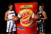 5 September 2018; Mouth-watering opening round Hula Hoops National Cup clash in store as Tralee drawn against Templeogue and Glanmire face Killester. There will be a mouth-watering opening to the 2018/19 Hula Hoops Men's National Cup this season as reigning champions Templeogue will host Garvey's Tralee Warriors in a hugely-anticipated clash. The draw was made at the National Basketball Arena in Tallaght this afternoon as part of the official launch of the 2018/19 Basketball Ireland season, which sees a huge 49 clubs competing in the senior National League and Cups this year.   Today's Cup draws dished up a number of interesting clashes across the board, with last year's Pat Duffy Cup runners up UCD Marian facing Moycullen, while Belfast Star will host Neptune. In the Women's National Cup there are some big clashes in store with the draw pitting Ambassador UCC Glanmire against Pyrobel Killester in the opening round, while Marble City Hawks and Fr Mathews – who met each other five times last season between the Cup and the regular season, and have faced each other every year for the past four years in National Cup – will face each other yet again. Pictured are Emily Black Anna Brennan of Griffith Swords Thunder. Photo by Sam Barnes/Sportsfile